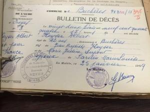 Bulletin de décès fait à Buchères (10)