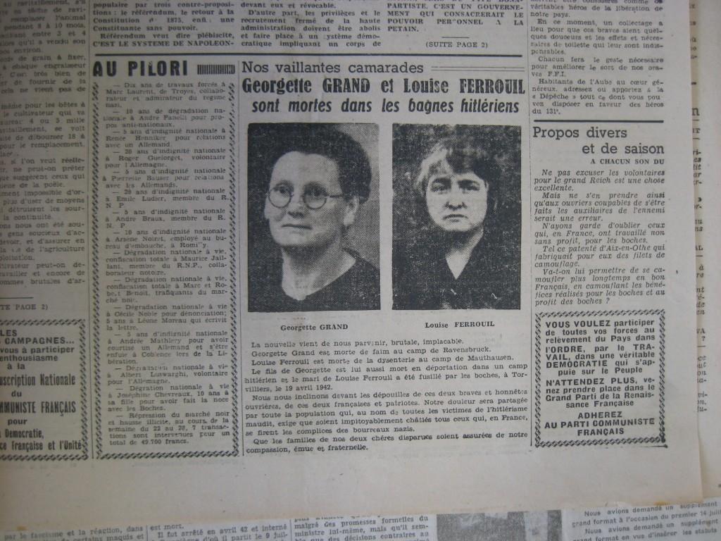 FERROUIL et GRANT DA 1945